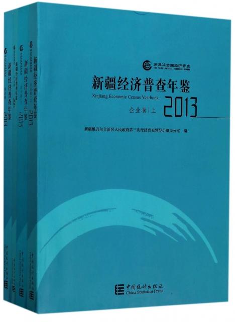 新疆經濟普查年鋻(附光盤2013共4冊)